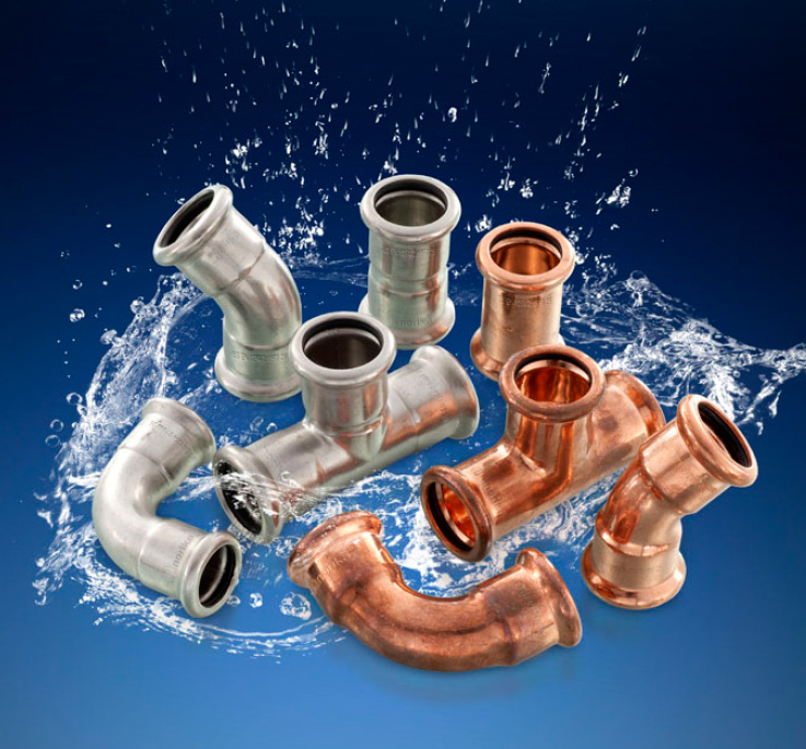 Copper and Stainless Steel Press Fit Fittings